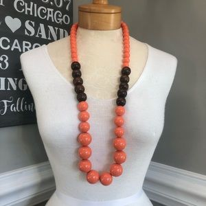 Vintage Wood and Lucite Large Beaded Necklace